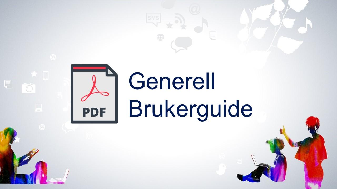 Generell brukerguide - pdf-format