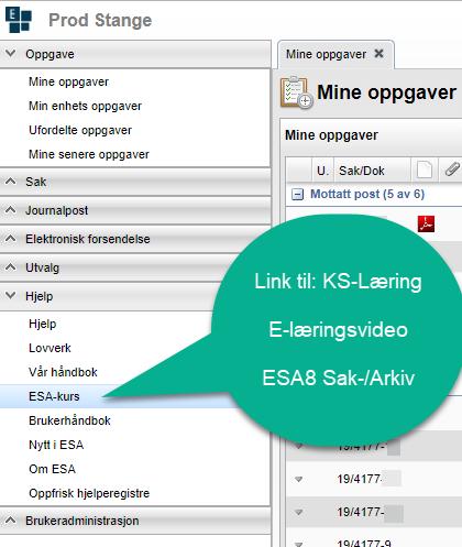 ESA brukervideoer