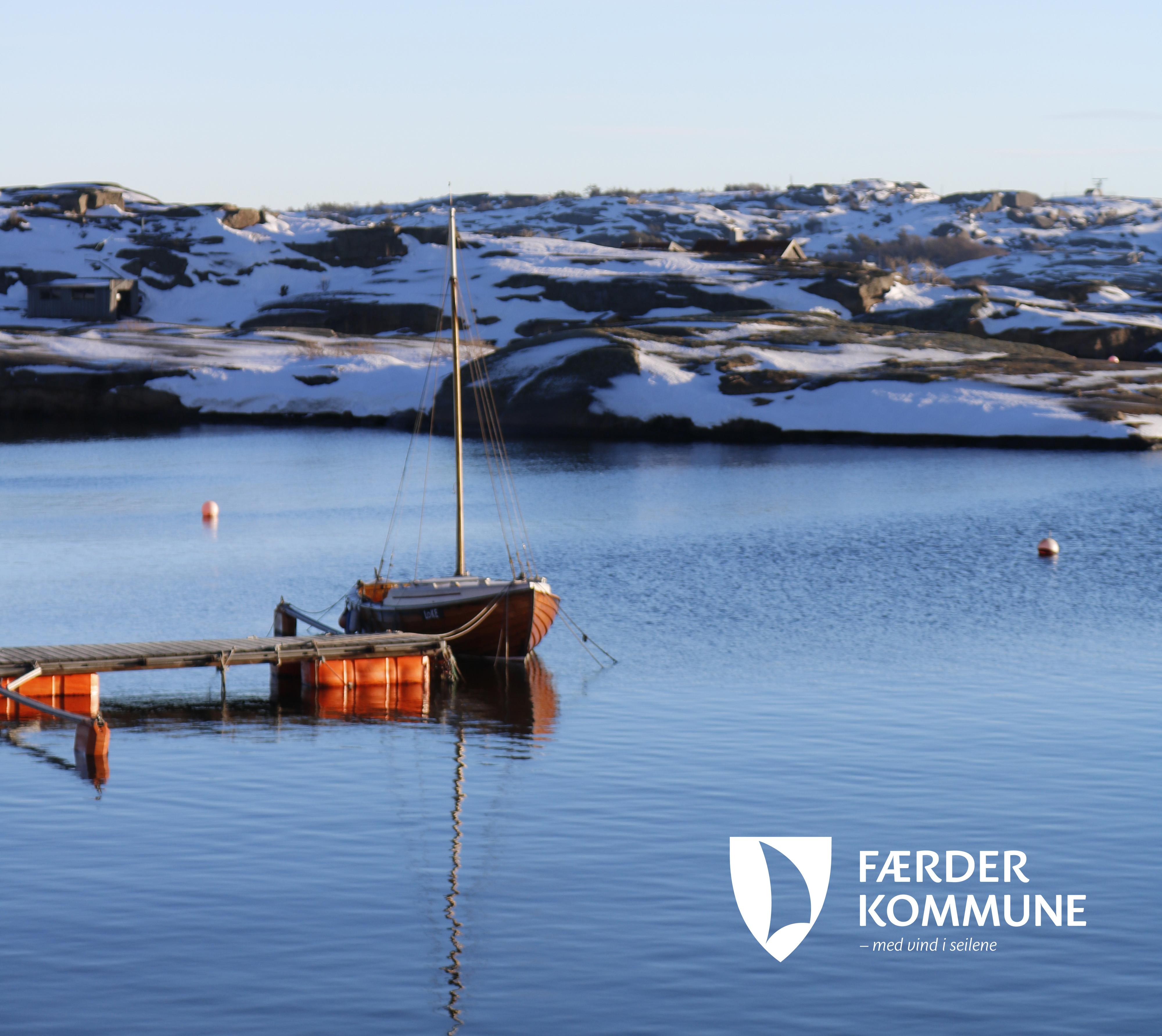 Foto av båt ved Verdens Ende.