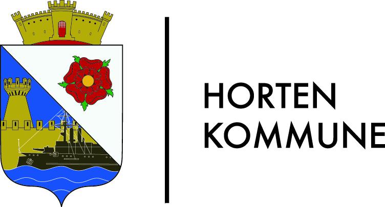Kommunevåpen Horten kommune i primærfarger