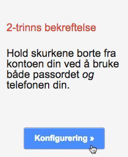 2 trinns pålogging google